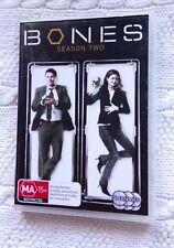 BONES SEASON TWO (DVD, 6-DISC SET) R-4, LIKE NEW, FREE POST IN ASITRALIA