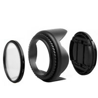 UV Filter & Lens Cap & Lens Hood for Nikon D5500 D5300 D5600 D3400 AF-P Cameras
