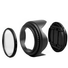 55mm Filtro UV+Tapa de objetivo + Parasol Kit para Nikon D5500 D5300 d5600 D3400