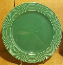 """Johnson Brothers Green Charger / Service plate, 12 3/8"""", Ridges, Excellent"""