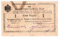Deutsch Ostafrika 1 Rupie 1916 Seriennummer handschriftlich verbessert