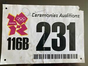 LONDON 2012 Olympics - original audition bib for ceremonies - GENUINE ITEM