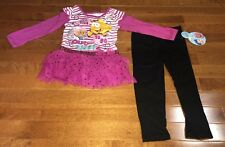 Bubble Guppies Toddler Girl Molly Mr. Grouper Shirt & Leggings Outfit Set New 3T