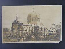 Philippines Caloocan La Loma Cemetery Church Real Photo Postcard RPPC 1940s