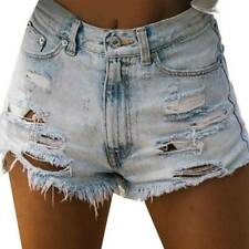 Womens High Waist Spotted Ladies Summer Beach Casual Hot Pants Shorts Size 6-16