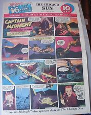 Captain Midnight Sunday #8 by Jonwon from 8/23/1942 Large Rare Full Page Size!