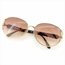 6997610ae18 Saint Laurent sunglasses Brown Gold Woman unisex Authentic Used T5843