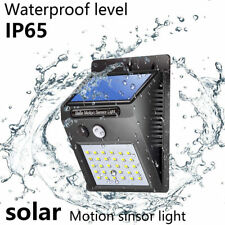 30 LED Energía Solar Sensor Movimiento PIR Jardín Luz de Pared Seguridad Lámpara
