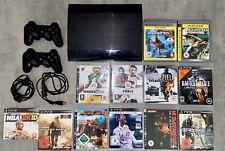 Sony Playstation 3 - Super Slim 500GB Schwarz - Spielekonsole Mit 12 PS3 Spiele