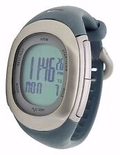 Nike Imara Heart Rate Monitor HRM SM0032 Grey Silicone Chronograph Watch w/Strap