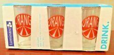 LUMINARC Orange Juice Glasses Drinkware 6.75 oz. Dishwasher Safe Set of 6 / New