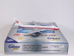 TAP AIR PORTUGAL Boeing 747-100 CS-TJA Aircraft Model 1:400 Scale Gemini Jets