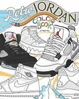 Retro Air Jordan Shoes : A Detailed Coloring Book for Adults and Kids, Paperb...