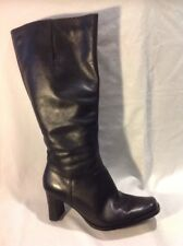 Essence Black Knee High Leather Boots Size 7