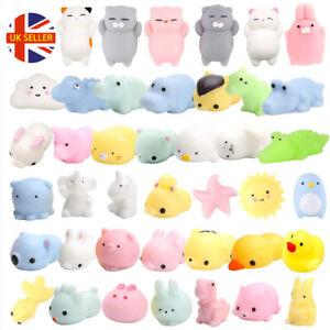 5/10/20 PCS Cute Animal Squishies Kawaii Mochi Squeeze Toy Stretch Stress Squish