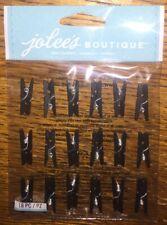 Jolees MINI CRAFT BLACK CLIPS REPEATS Wedding Baby Scrapbook Sticker Clothes Pin