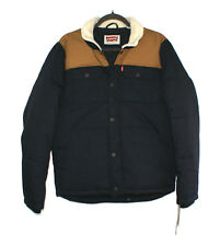 $180.00 LEVI'S QUILTED MIXED MEDIA SHIRTTAIL WORKWEAR PUFFER JACKET Small S