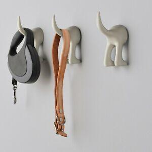 3x IKEA BÄSTIS Dog Tail Hooks Black Beige or Turquoise NEW UK