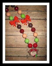 Girls kid chunky bubblegum necklace USA NEW Strawberry girl M2M gymboree
