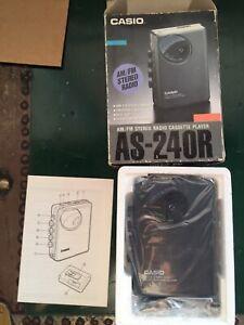 WALKMAN Casio AS 240 R Stereo Lettore di cassette Radio Fm/Am VINTAGE