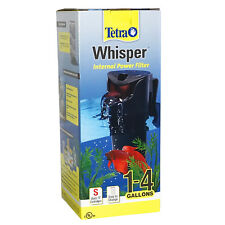 Tetra Whisper INTERNAL POWER FILTER 1-4 Gallons 27-GPH PUMP Aquarium Fish Tank S