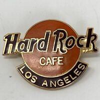 Hard Rock Cafe Los Angeles Classic Logo Pin Vintage 90s Edition Orange Brown