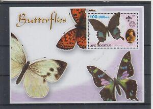 Afghanistan Block Butterflies mnh