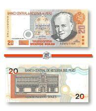 Peru 20 Nuevos Soles 2001 Unc Pn 176a Prefix B Suffix H, Banknote24