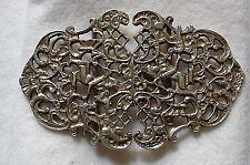 Design barocco, aprire INTARSIATURA, Marchiato Argento Infermiere Fibbia della Cintura