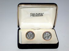 Beautiful Vintage authentic Mercury Dime Coin Silver Cuff Links