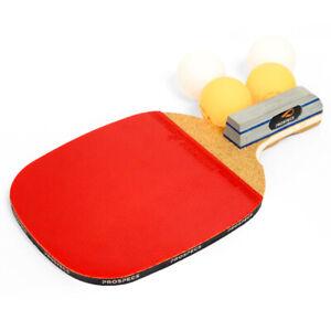 Prospecs Penholder Blade Table Tennis Ping Pong Racket Bats + 4Balls 1.7P
