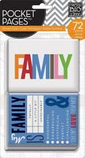 ME & MY BIG IDEAS POCKET PAGES THEMED CARDS FAMILY 72 PIECES
