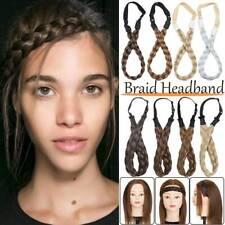Quality Thick Chunky Hair Extension Headband Braid Braided Plait Hair Band Black