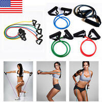 Exercise Latex Resistance Bands Strength Training Yoga Stretching Tension Rope