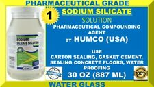 Humco Sodium Silicate Solution Water Glass Solution 30 oz Jar USA Made (10/2022)