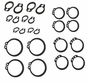 NEW 40 x Assorted External circlips 8 each of 3mm, 4mm, 5mm, 6mm, 8mm. UK SELLER