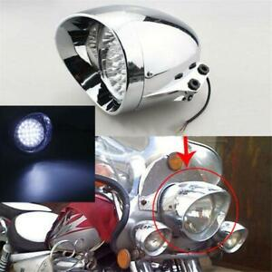"7"" Chrome Motorcycle LED Headlight Front Light For Victory Indian Bobber Bike"