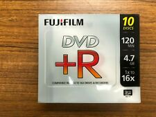 Fujifilm DVD+R 10 Pack Blank 120min 4.7GB 1x to 16x New Discs