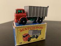 Mint MATCHBOX Lesney  #26 GMC TIPPER TRUCK With Box