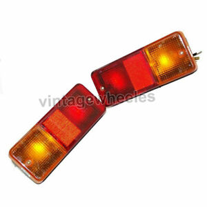 Set of 2 Unit of Rear Tail Brake Lamp Light Assembly Fit For New Holland Tractor