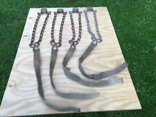 4 VINTAGE STRAP-ON Emergency Snow Ice Tire Chains Peerless Chain Winona MN USA
