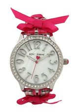 Betsey Johnson Women's Pink Lace-Up Watch New $69