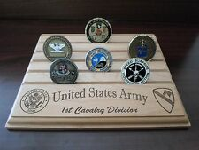 Military Challenge Coin Holder/Display 8x10, 1st Cav Division