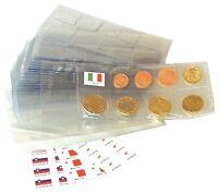 5 Euro Blister 8 pezzi con custodia per collezionare e conservare monete Cursori