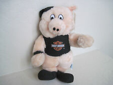 Vintage 1991 Motor Cycles HARLEY DAVIDSON PIG Plush Stuffed Animal