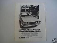 advertising Pubblicità 1971 TRIUMPH 2500 P.I.