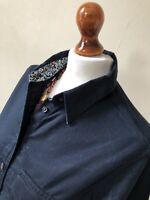 Ines de la Fressange For Uniqlo Size Small Navy Blue 100% Cotton Shirt