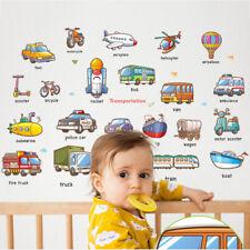 Cartoon car series Wall Stickers Early education Kids Kindergarten Baby roomBDA