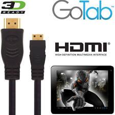 Gotab X, 7, 9 Android Tablet PC Mini HDMI a HDMI TV 5M Lungo Oro Cavo Di Piombo