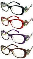 "Womens ""Swirl Baroque"" Reader Reading Glasses Clear Lens RE42 +1.00.......+3.50"
